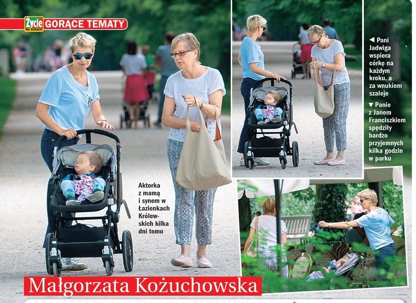 Małgorzata z synkiem i mamą /- /Życie na gorąco