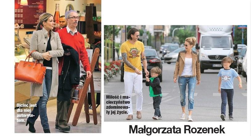 Małgorzata z tatą oraz dziećmi i Majdanem /- /Świat & Ludzie
