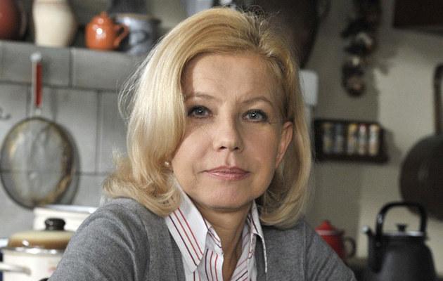 """Małgorzata Zajączkowska na planie """"Złotopolskich"""", fot.Gałązka  /AKPA"""