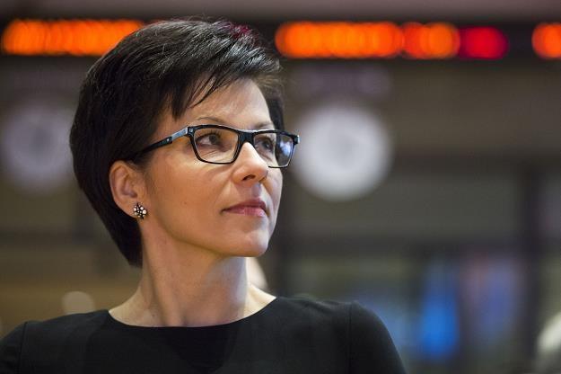 Małgorzata Zaleska, prezes GPW. Fot. Andrzej Hulimka /Reporter