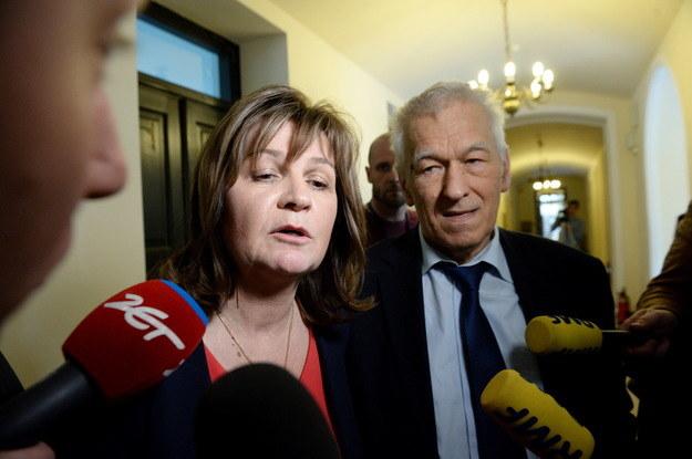 Małgorzata Zwiercan i Kornel Morawiecki /Jacek Turczyk /PAP