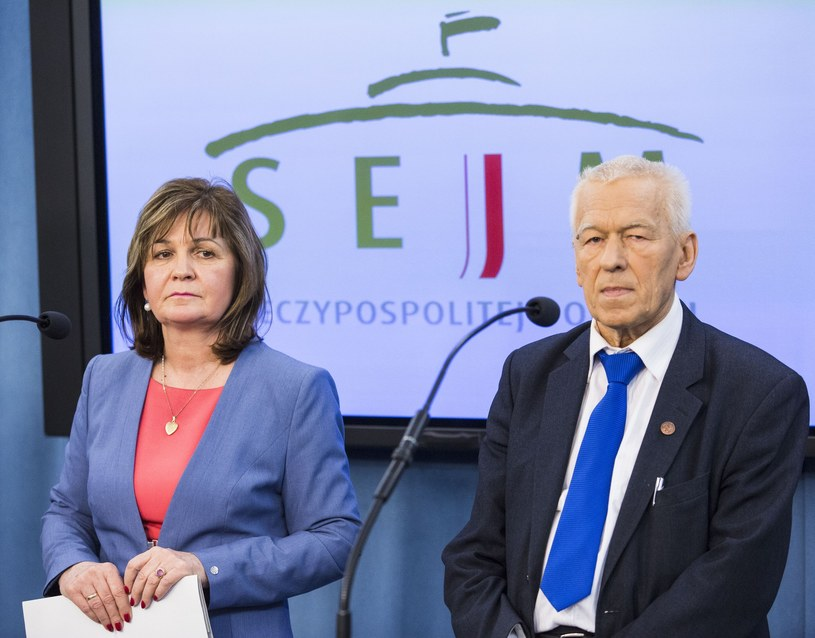 Malgorzata Zwiercan i Kornel Morawiecki /Andrzej Hulimka  /Reporter