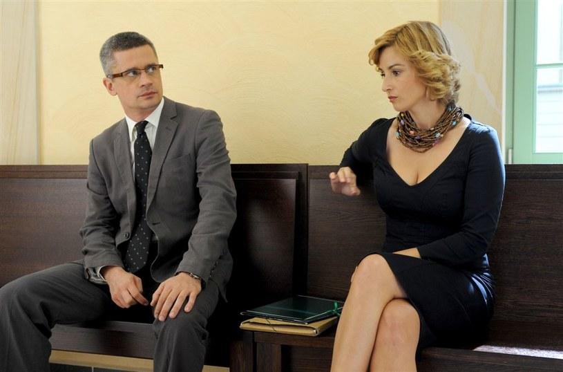 Małgosia Jantar (Joanna Brodzik) rozwodzi się z Konradem (Piotr Grabowski) /Agencja W. Impact
