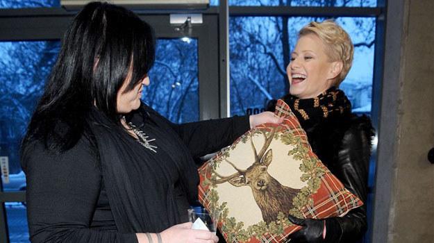 Małgosia odwiedziła swoją ulubioną kreatorkę mody Gosię Baczyńską /Agencja W. Impact