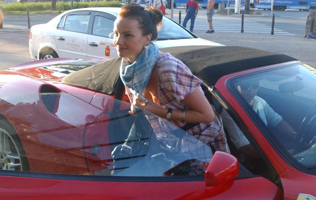 Małgosia Teodorska i jej nowy wózek  /MWMedia