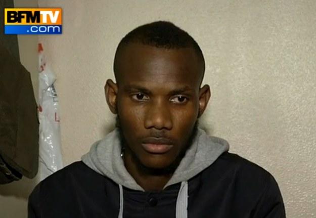 Malijczyk Lassana Bathily stał się bohaterem Francuzów /BFMTV.com /