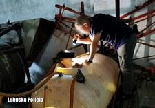 Małomice: Poszukiwany ukrył się przed policją w beczce do oprysków
