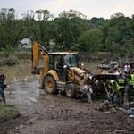 Małopolska po ulewach: Rozważana jest budowa mostu tymczasowego w Krzyszkowicach