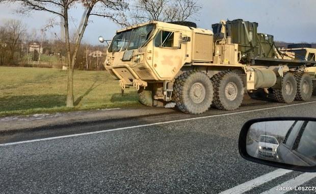 Małopolskie: Kolizja amerykańskich pojazdów wojskowych