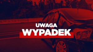 Małopolskie: Wypadek busa. Droga całkowicie zablokowana
