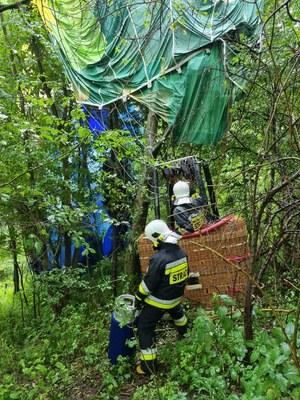 Małopolskie: Wypadek podczas lotu balonem. Pasażer wypadł z gondoli