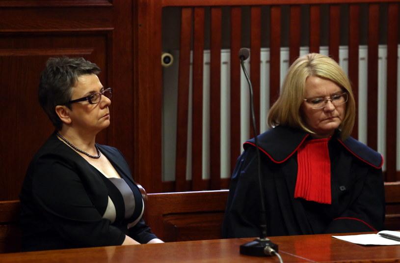 Małorzata Papała i prokurator Elżbieta Grześkowiak /Tomasz Gzell /PAP