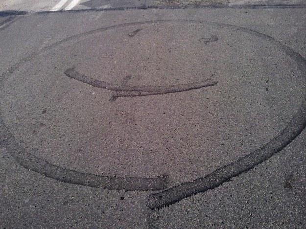 Malowany gumą motocyklową :)