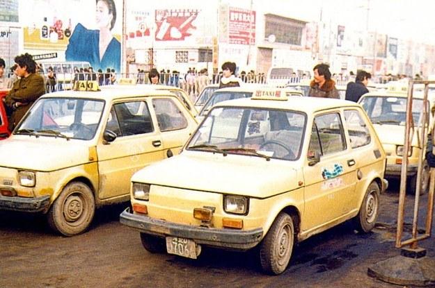 Maluchy jako taksówki w Chinach /