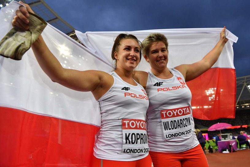 Malwina Kopron i Anita Włodarczyk /AFP