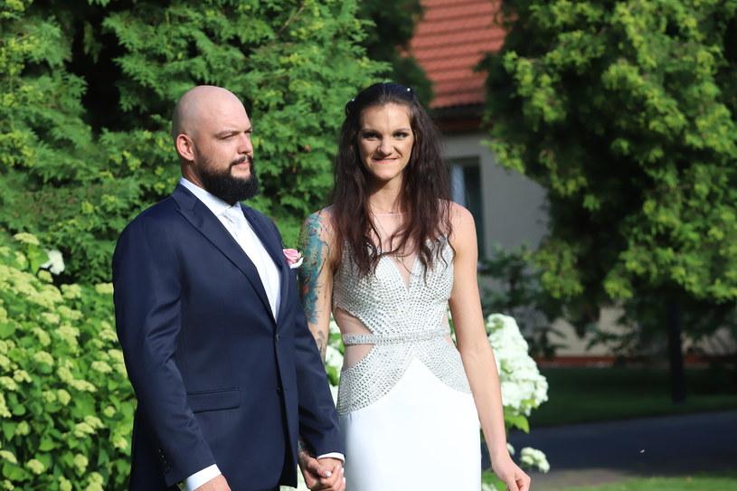 Malwina Smarzek w dniu ślubu /Grzegorz Galasinski/DZIENNIK LODZKI/Polska Press /East News