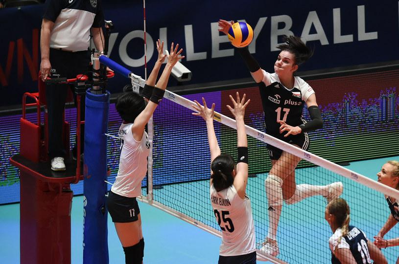 Malwina Smarzek w meczu z Koreą Płd. /www.fivb.org