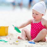 Mały plażowicz