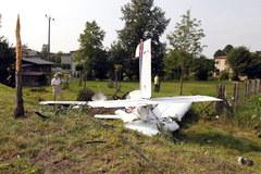 Mały samolot rozbił się w Rybniku