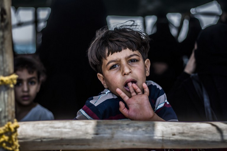 Mały uchodźca z Jemenu /ANDREAS STAHL /AFP