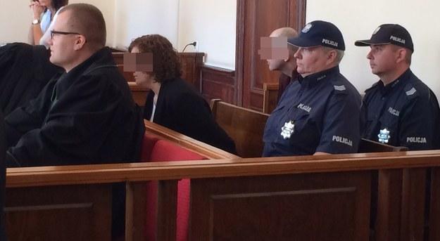 Małżeństwo podczas odczytywania wyroku /Kuba Kaługa /RMF FM