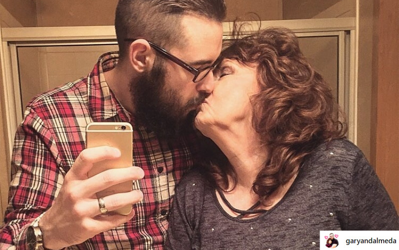 Małżonkowie z dużą różnicą wieku nie boją się okazywać uczuć /instagram.com/garyandalmeda /Instagram