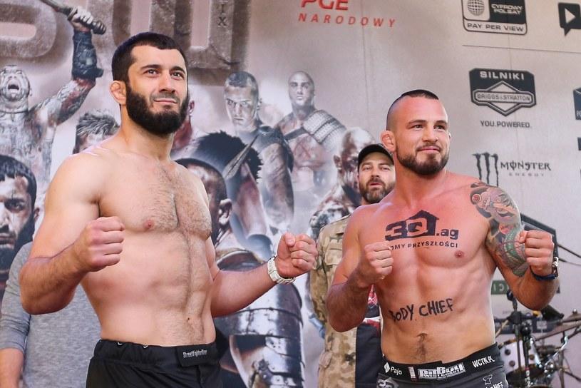 Mamed Chalidow (z lewej) i Borys Mańkowski /Fot. Tomasz Jastrzębowski /East News