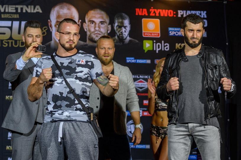 Mamed Chalidow (z prawej) i Borys Mańkowski /Fot. Jacek Ufnal /Newspix