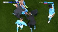 Manchester City - Chelsea. Dramatyczne zderzenie. De Bruyne opuścił boisko. WIDEO (POLSATA SPORT)