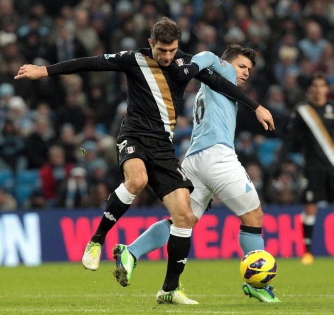 Manchester City pokonał u siebie Fulham Londyn 2:0 /LINDSEY PARNABY /PAP/EPA