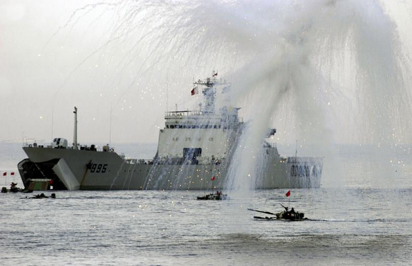 Manewry Rosji i Chin na Morzu Południowochińskim /Getty Images