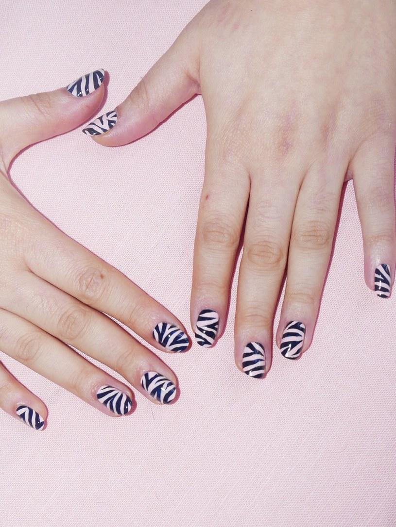 Manicure zebra /materiały prasowe