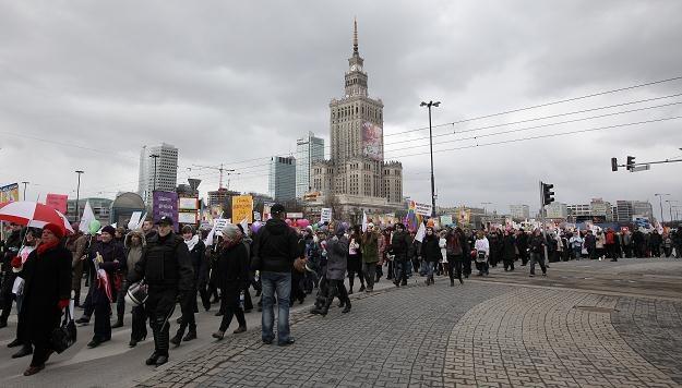 Manifa warszawska, fot. Paweł Supernak /PAP