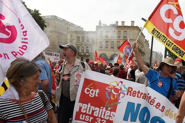Manifestacja emerytów we Francji /AFP