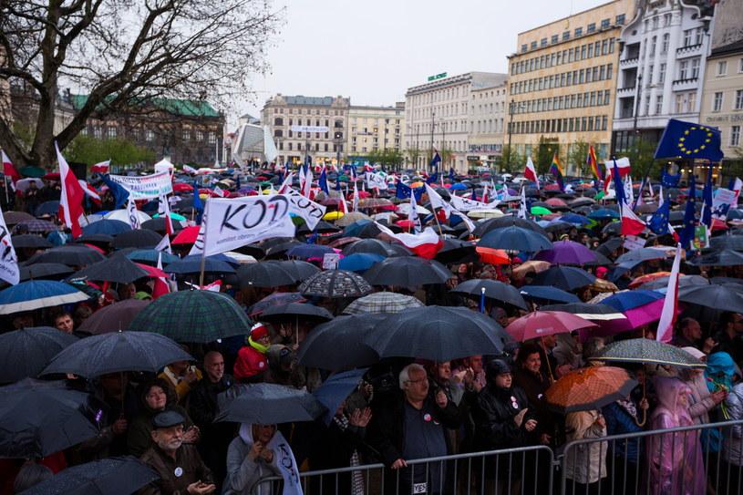 Manifestacja KOD w Poznaniu /Marek Zakrzewski /PAP