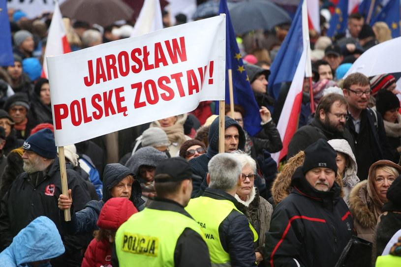 Manifestacja Komitetu Obrony Demokracji /Rafał Guz /PAP