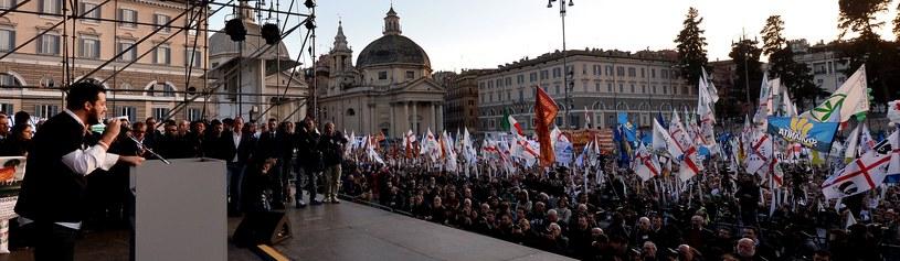 Manifestacja Ligii Północnej w Rzymie /AFP