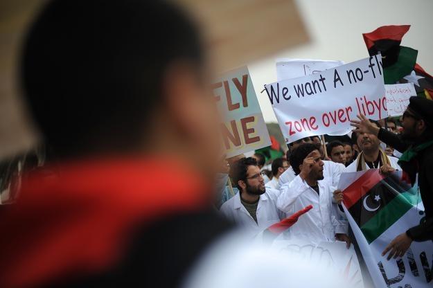 Manifestacja na rzecz ustanowienia strefy zakazu lotów /AFP