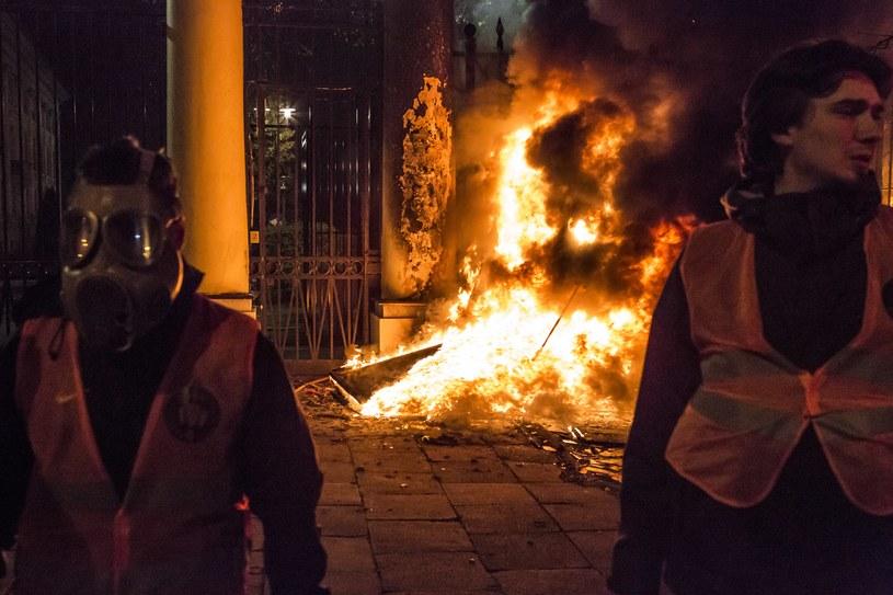 Manifestacja na tyłach Ambasady Federacji Rosyjskiej /Anna Włoch /Agencja FORUM