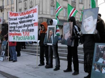Manifestacja o pokój w Czeczeni w stolicy / fot. M. Jaskiewicz /East News
