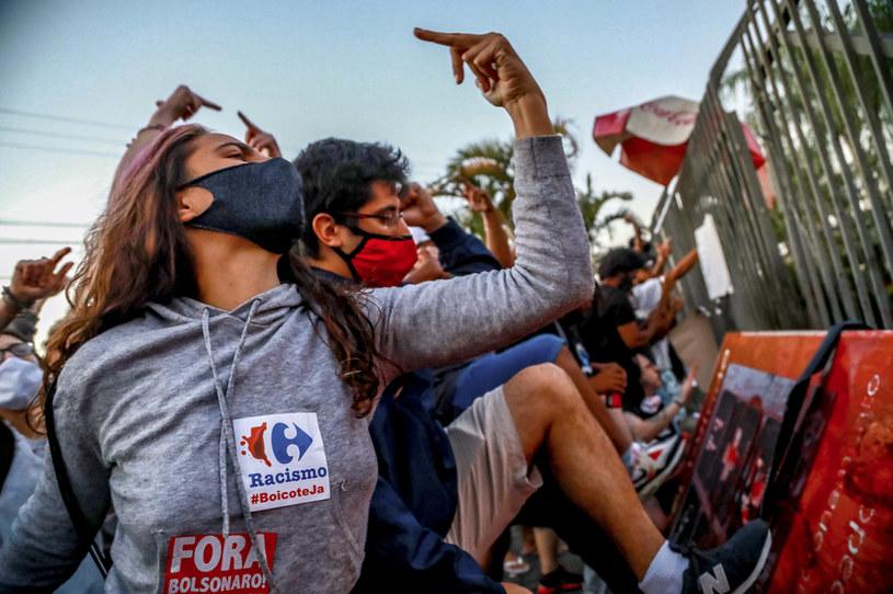 Manifestacja po śmierci czarnoskórego 40-latka /SILVIO AVILA / AFP /AFP