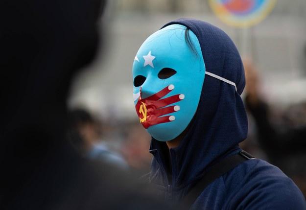 Manifestacja poparcia dla Ujgurów /JEROME FAVRE /PAP/EPA