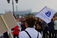 Manifestacja pracowników służby zdrowia w Warszawie