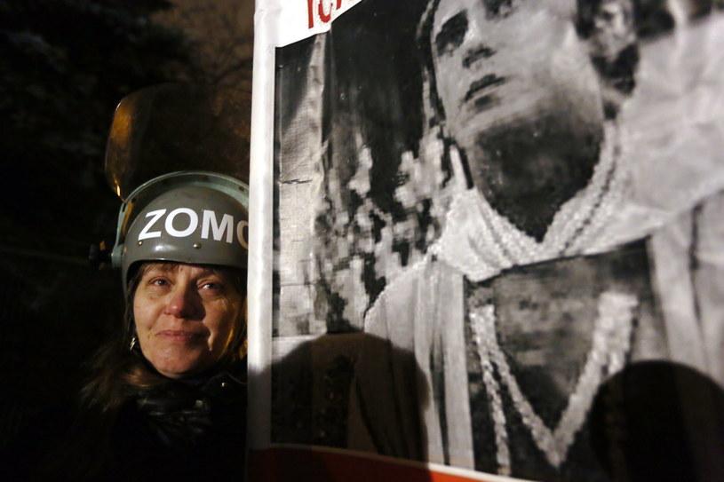 Manifestacja przed domem generała Jaruzelskiego /TVN24/x-news
