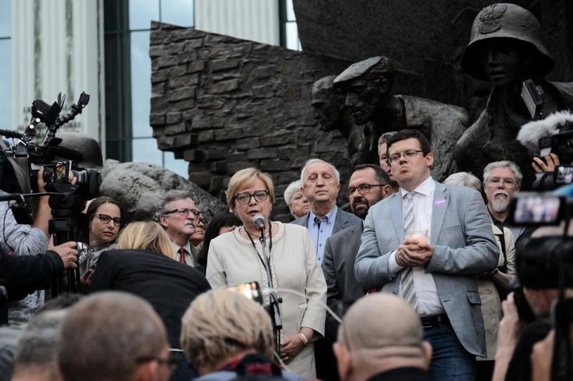 Manifestacja przed Sądem Najwyższym / Jakub Kamiński    /PAP