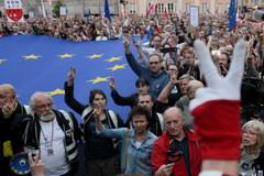 Manifestacja przed siedzibą Sądu Najwyższego w Warszawie