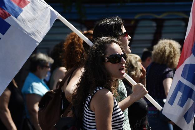 Manifestacja w Atenach w ramachu strajku pracowników hotelarstwa /AFP
