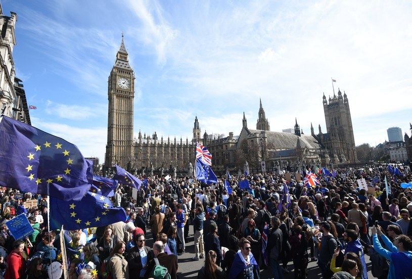 Manifestacja w Londynie /PAP/EPA