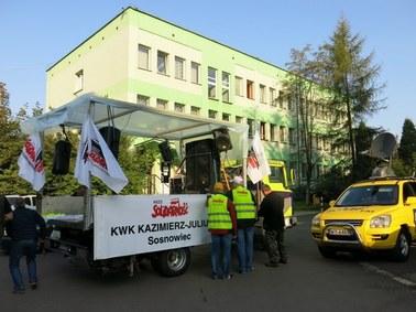 Manifestacja w obronie kopalni w Sosnowcu