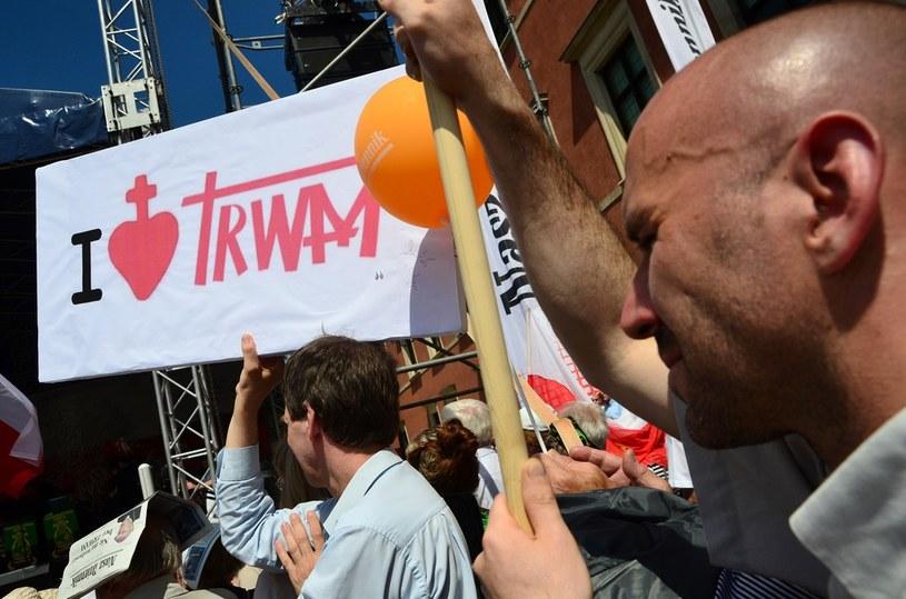 """Manifestacja w obronie telewizji """"Trwam"""" /Mariusz Gaczyński /East News"""